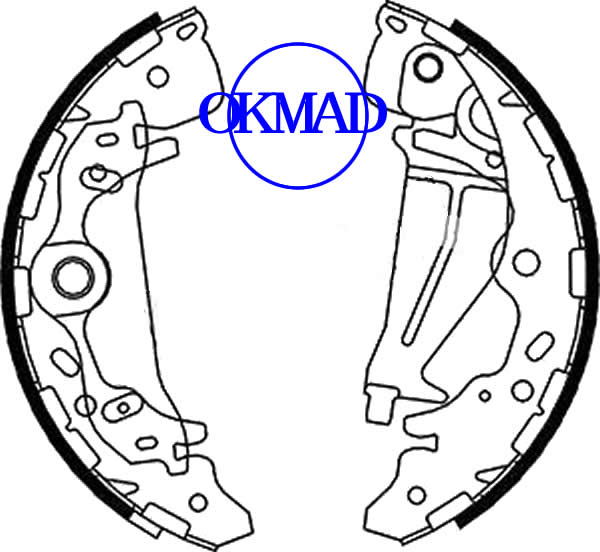 KIA CARNIVAL II (GQ) Drum Brake shoes set FMSI:1594-S872 OEM:0K58A-26-38Z