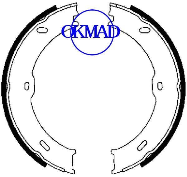 Set ganasce freno a tamburo MERCEDES-BENZ SPRINTER 3,5-t FMSI:1595-S938 OEM:9064200320 FSB4001