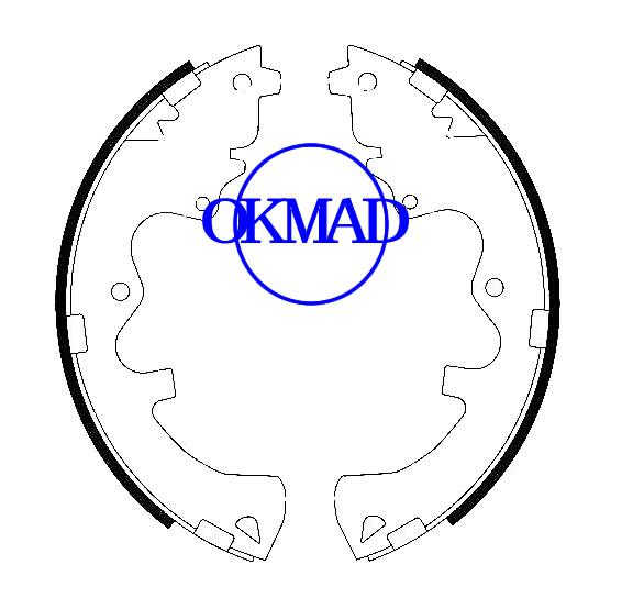 Set ganasce freno a tamburo Mazda Tribute FMSI: 1629-S953 OEM: ZZC1-49-240A