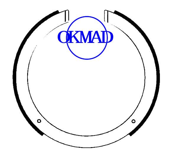 DAEWOO KORANDO MAZDA CX-7 OPEL SINTRA SSANGYONG ACTYON KYRON MUSSO REXTON Set ganasce freno a tamburo FMSI: 2199-S957 OEM: LFY4-44-39Z FSB4157