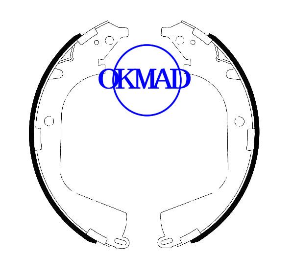 Set ganasce freno a tamburo Chevrolet COLORADO GMC CANYON FMSI: 1643-S959 OEM: 19207735