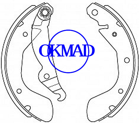 Set ganasce freno a tamburo CHEVROLET Chevy Corsa OPEL ASTRA FMSI: 1665-S994 OEM: 93332948 FSB334 GS8542